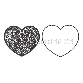 Alexandra Renke HEART ORNAMENT WITH FRAME Dies darmu0019