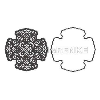 Alexandra Renke CROSS ORNAMENT WITH FRAME Dies darmu0020