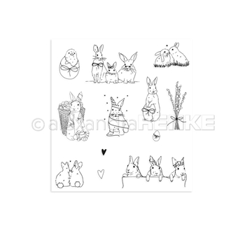 Alexandra Renke EASTER BUNNY AND FRIENDS Clear Stamp Set astaros0004