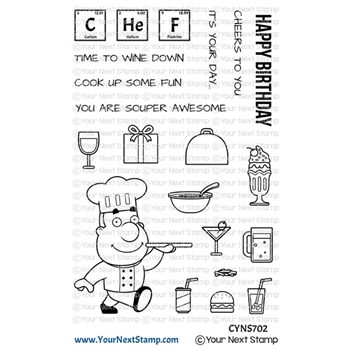 Your Next Stamp COOK UP SOME FUN Clear cyns702
