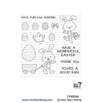 Your Next Stamp EGG HUNT Clear cyns700