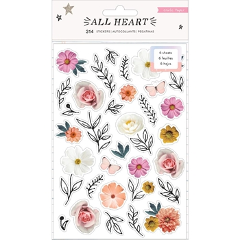 Crate Paper ALL HEART Sticker Book 350865