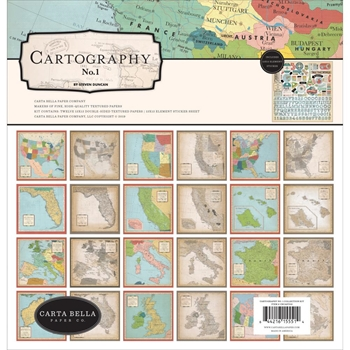 Carta Bella CARTOGRAPHY 12 x 12 Collection Kit cbca97016