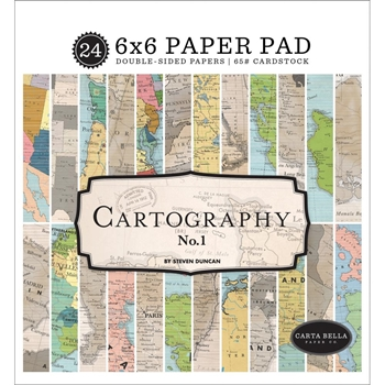 Carta Bella CARTOGRAPHY 6 x 6 Paper Pad cbca97023
