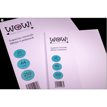 WOW Superior Smooth WHITE CARDSTOCK SIZE A5 WV15A4