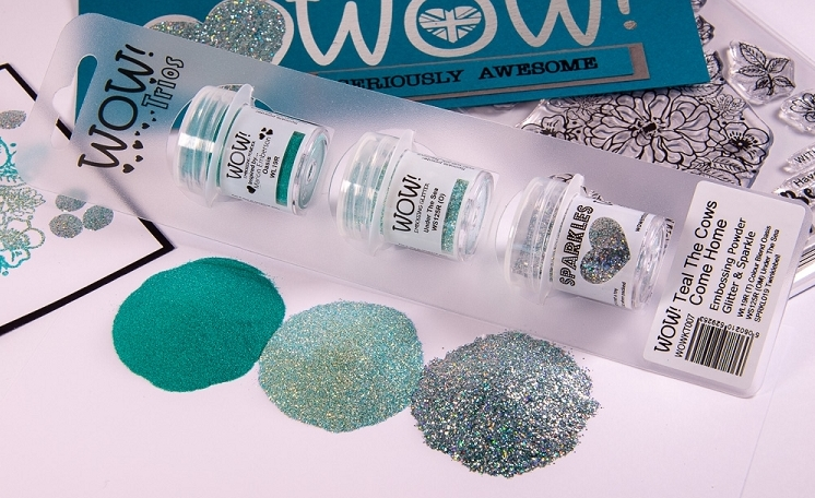 Wow Embossing Powder Trios TEAL THE COWS COME HOME Set WOWKT007 zoom image