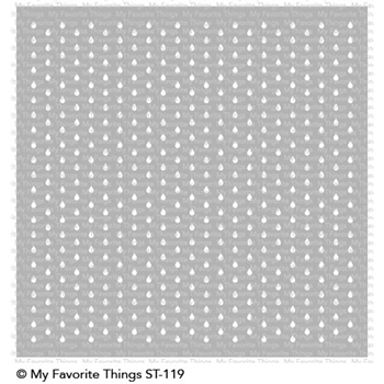 My Favorite Things MINI STAGGERED RAINDROPS Mixables Stencil ST119