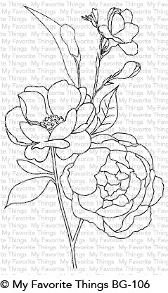 My Favorite Things FRESH CUT FLOWERS Background Cling Stamp BG106 Preview Image