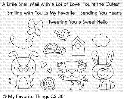 My Favorite Things CUTE CRITTERS Clear Stamps CS381 zoom image