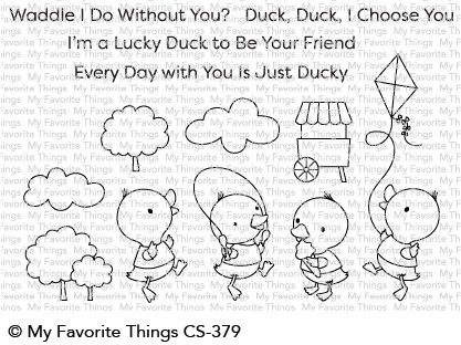 My Favorite Things JUST DUCKY Clear Stamps CS379 zoom image