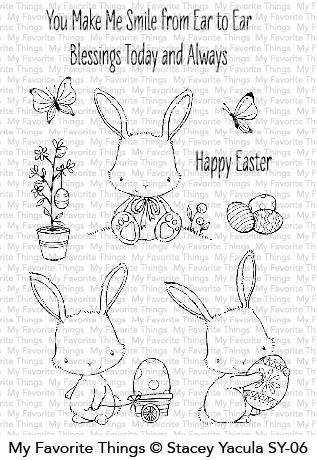 My Favorite Things EASTER BUNNIES Clear Stamps SY06 Preview Image