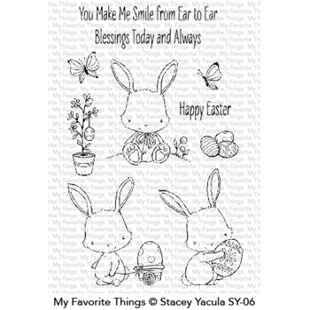 My Favorite Things EASTER BUNNIES Clear Stamps SY06
