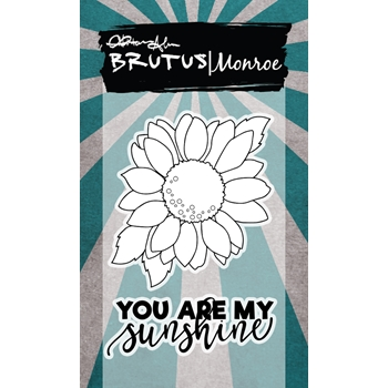 Brutus Monroe SUNFLOWER Clear Stamps bru3242