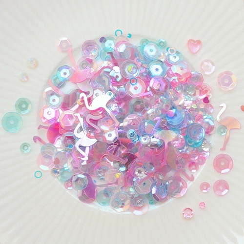 Little Things From Lucy's Cards PRETTY IN PINK Sparkly Shaker Mix LB231 Preview Image