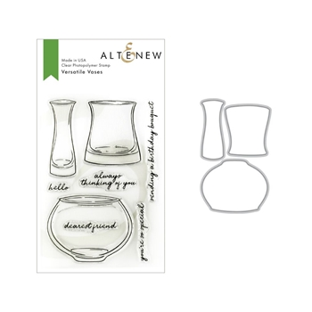Altenew VERSATILE VASES Clear Stamp and Die Bundle ALT3161