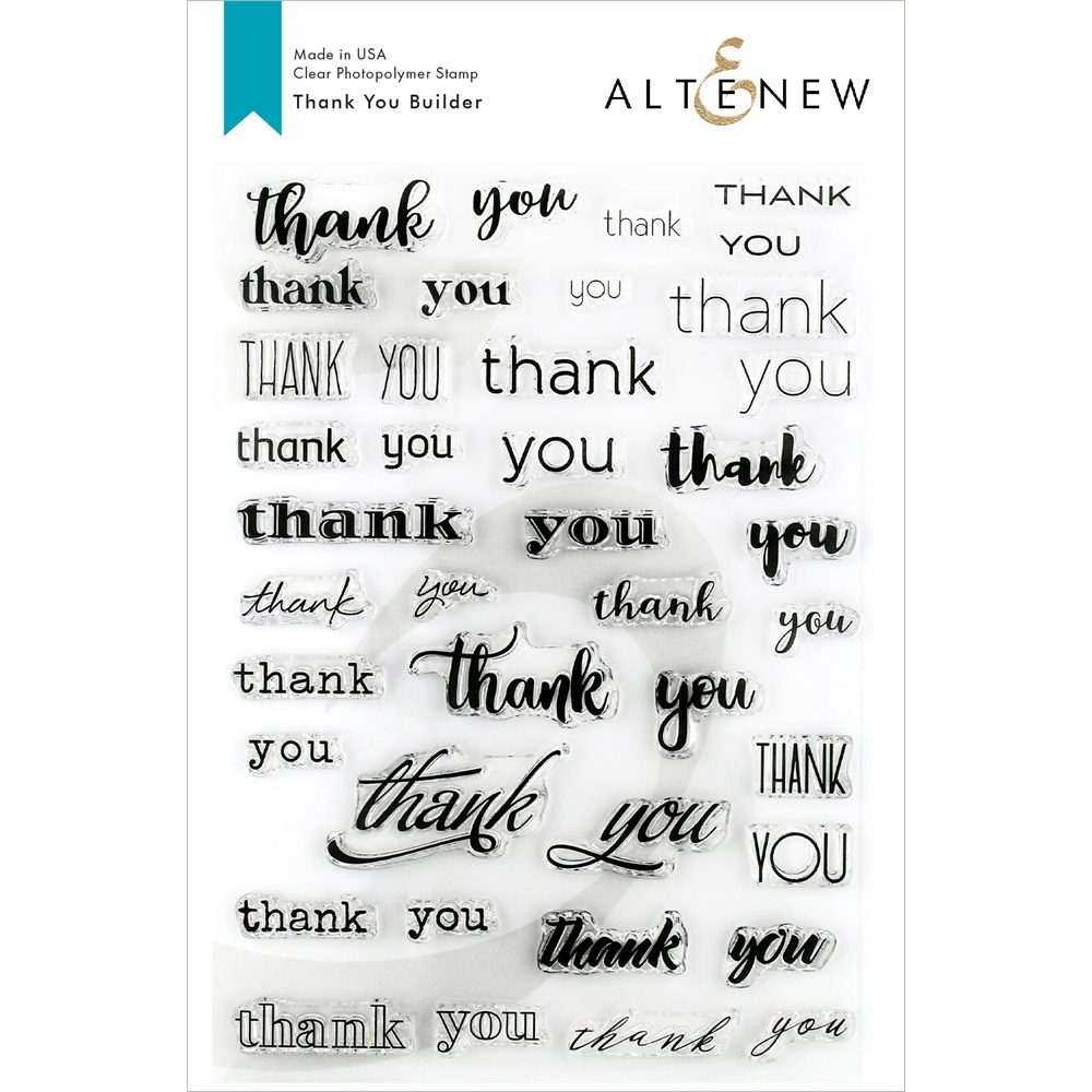 Altenew THANK YOU BUILDER Clear Stamps ALT3157 zoom image