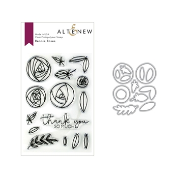 Altenew RENNIE ROSES Clear Stamp and Die Bundle ALT3153