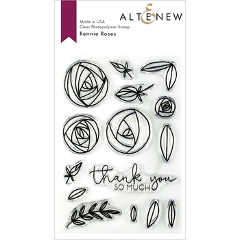 Altenew RENNIE ROSES Clear Stamps ALT3150