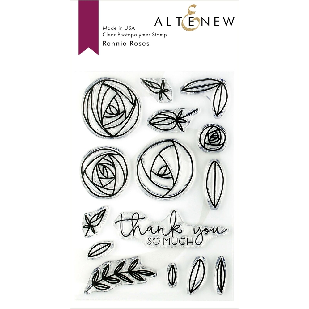 Altenew RENNIE ROSES Clear Stamps ALT3150 zoom image