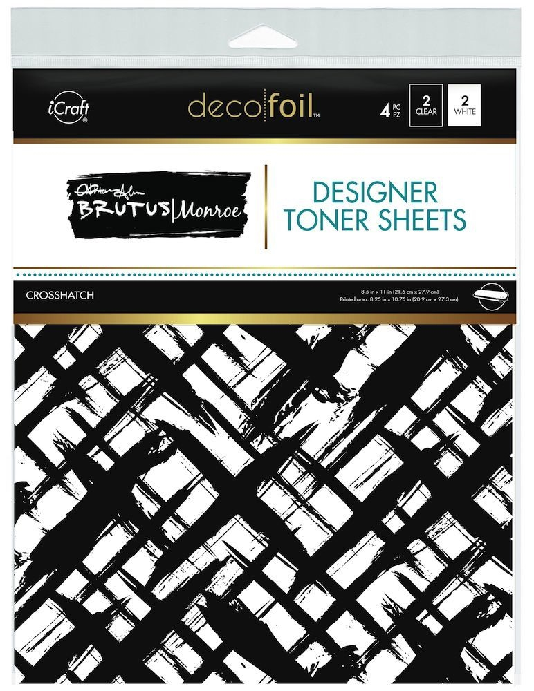 Therm O Web Brutus Monroe CROSSHATCH Deco Foil Toner Sheets 19025 zoom image
