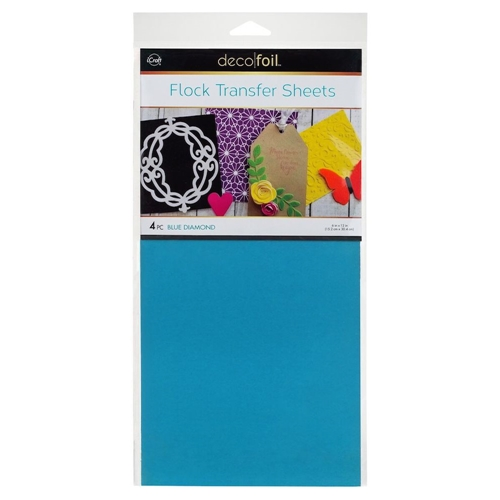 Therm O Web BLUE DIAMOND Flock Transfer Sheets Deco Foil 5537 Preview Image