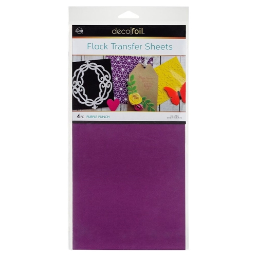Therm O Web PURPLE PUNCH Flock Transfer Sheets Deco Foil 5538 Preview Image