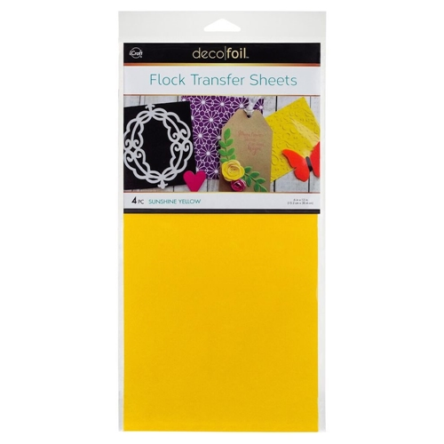 Therm O Web SUNSHINE YELLOW Flock Transfer Sheets Deco Foil 5535 Preview Image