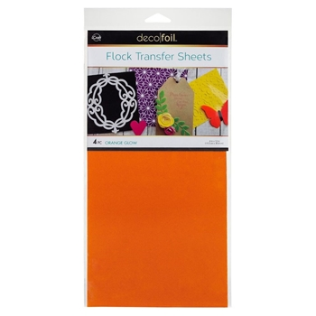 Therm O Web ORANGE GLOW Flock Transfer Sheets Deco Foil 5534
