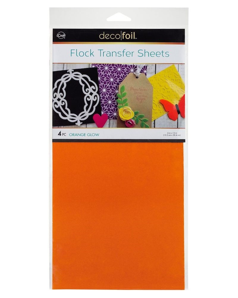 Therm O Web ORANGE GLOW Flock Transfer Sheets Deco Foil 5534 zoom image