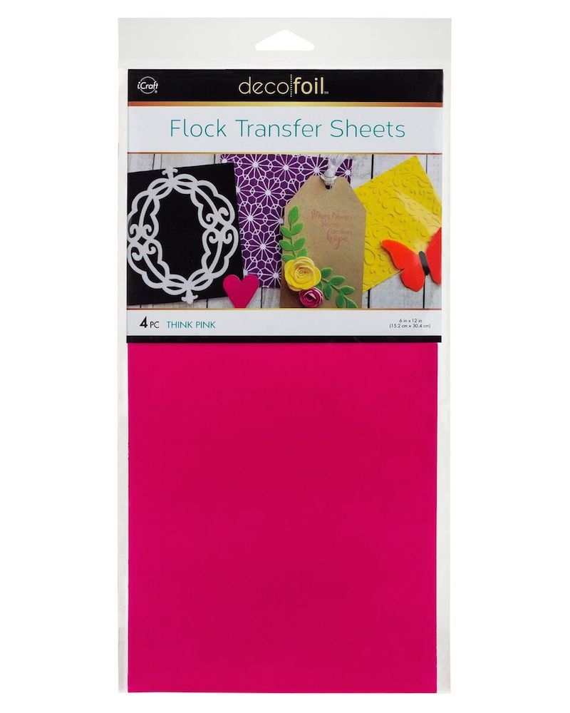 Therm O Web THINK PINK Flock Transfer Sheets Deco Foil 5533 zoom image