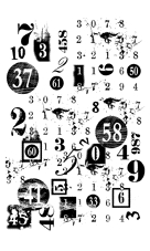 Paper Artsy MINI 28 Numbers Rubber Cling Stamp MN28