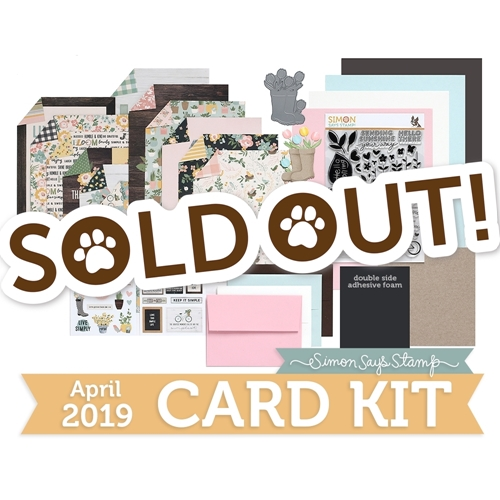 Simon Says Stamp Card Kit of The Month APRIL 2019 HELLO DARLING ck0319 Preview Image