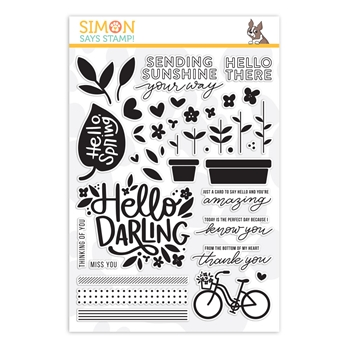 Simon Says Clear Stamps HELLO DARLING sss201899