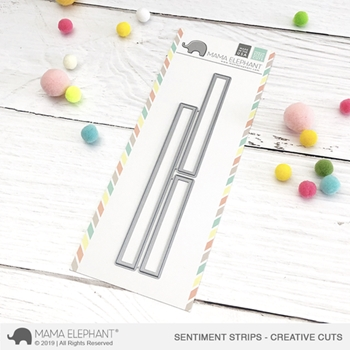 Mama Elephant SENTIMENT STRIPS Creative Cuts Steel Dies