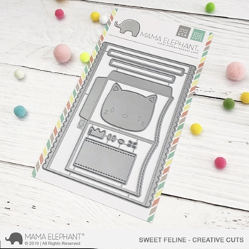 Mama Elephant SWEET FELINE Creative Cuts Steel Dies