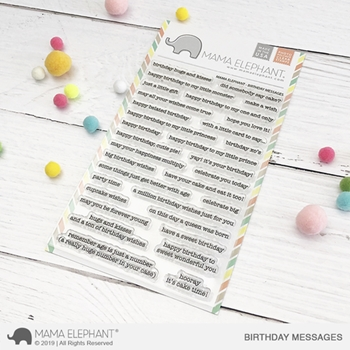 Mama Elephant Clear Stamps BIRTHDAY MESSAGES