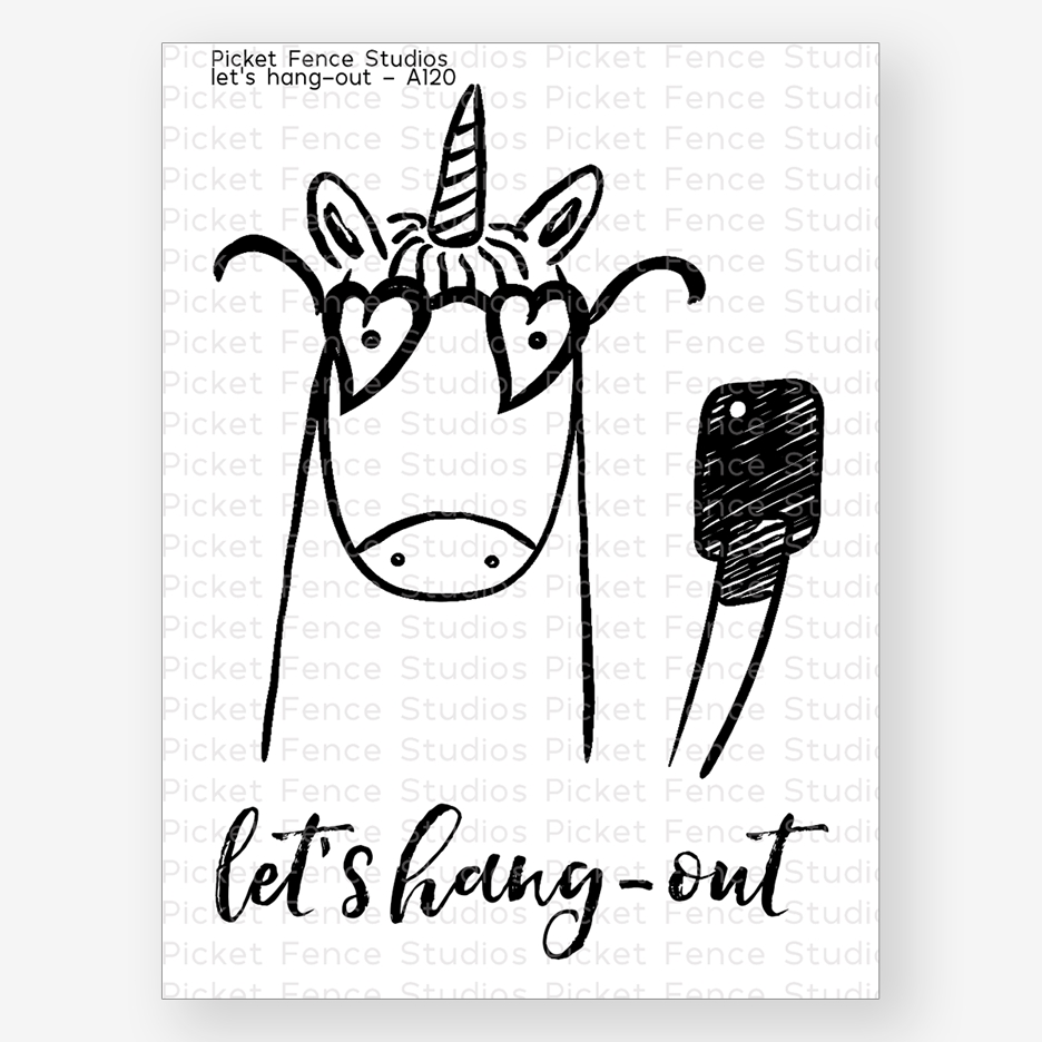 Picket Fence Studios LETS HANG OUT Clear Stamp Set a120 zoom image