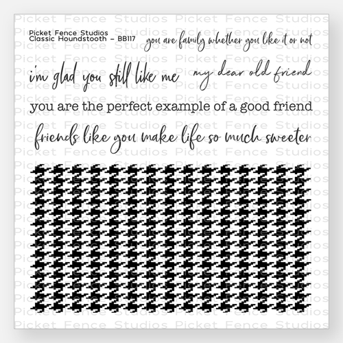 Picket Fence Studios CLASSIC HOUNDSTOOTH Clear Stamp Set bb117 Preview Image