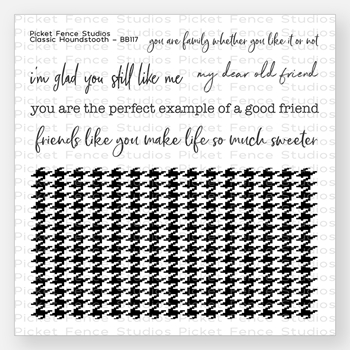 Picket Fence Studios CLASSIC HOUNDSTOOTH Clear Stamp Set bb117