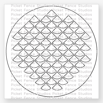 Picket Fence Studios FISH SCALES Stencil sc119