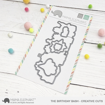 Mama Elephant THE BIRTHDAY BASH Creative Cuts Steel Die