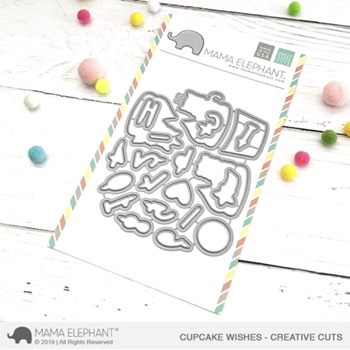 Mama Elephant CUPCAKE WISHES Creative Cuts Steel Dies