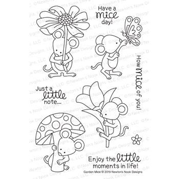 Newton's Nook Designs GARDEN MICE Clear Stamps NN1903S03