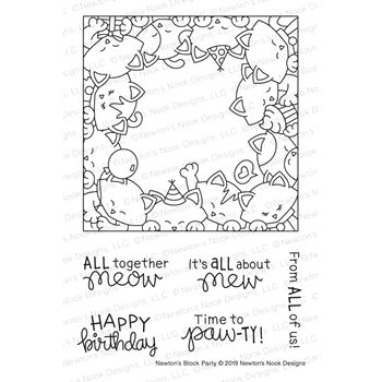 Newton's Nook Designs NEWTON'S BLOCK PARTY Clear Stamps NN1903S05