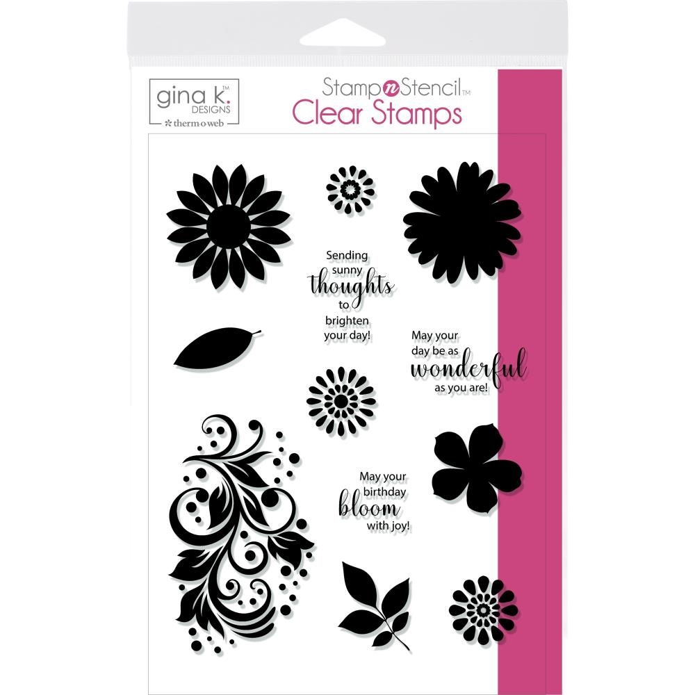 Therm O Web Gina K Designs CRAZY DAISY Clear Stamps 18128 zoom image