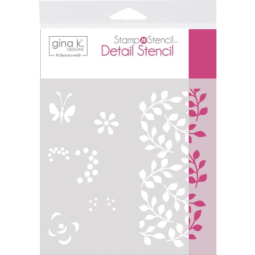 Therm O Web Gina K Designs PETALS AND WINGS Detail Stencil 18125 Preview Image