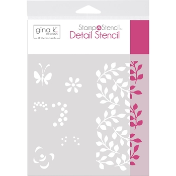 Therm O Web Gina K Designs PETALS AND WINGS Detail Stencil 18125