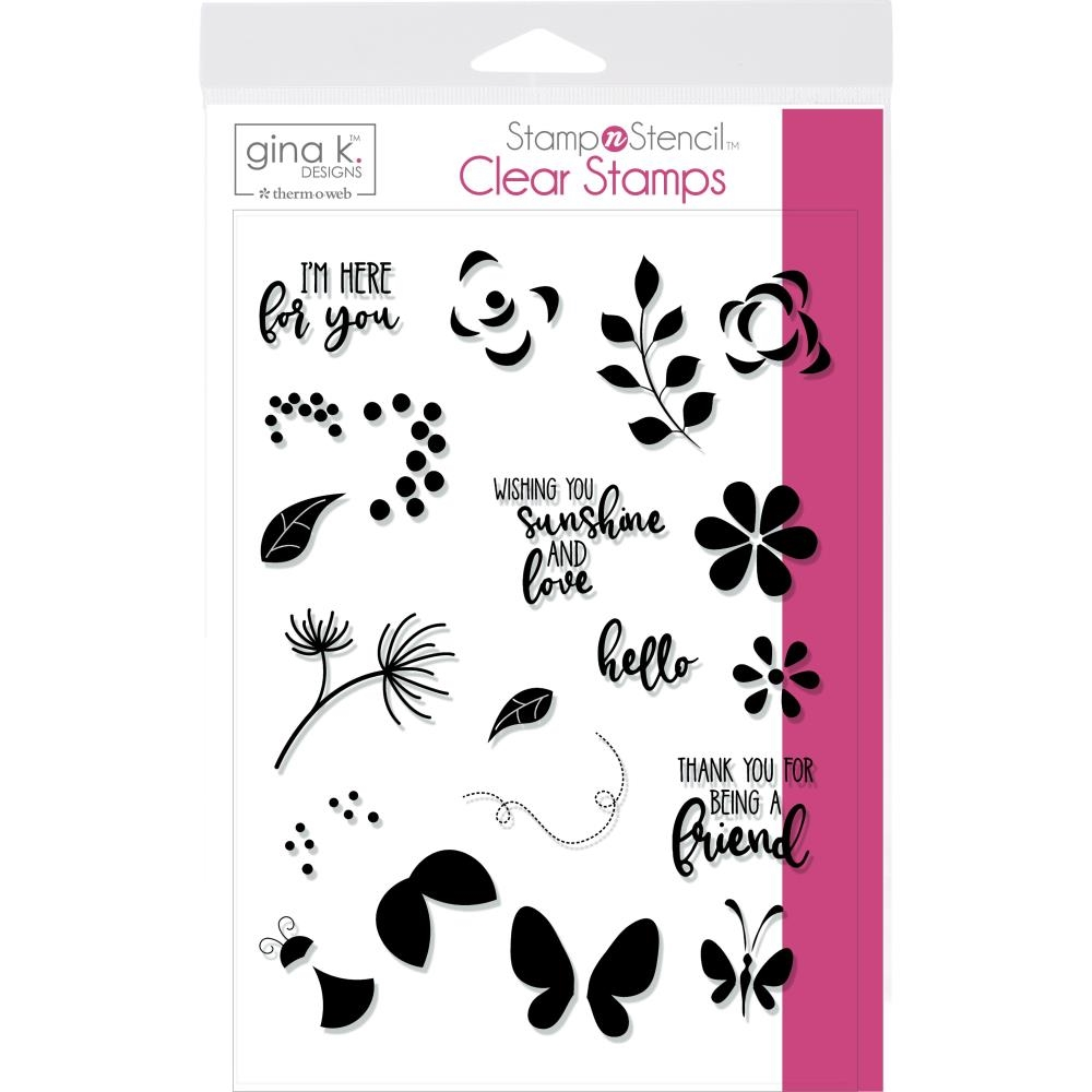 Therm O Web Gina K Designs PETALS AND WINGS Clear Stamps 18127 zoom image