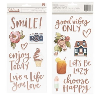 American Crafts 1canoe2 SATURDAY AFTERNOON SMILE Foam and Cardstock Phrase Stickers 351153
