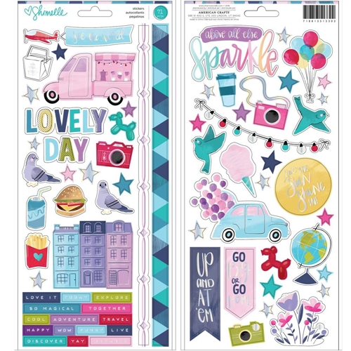 American Crafts Shimelle CARDSTOCK STICKERS Sparkle City 351330 Preview Image